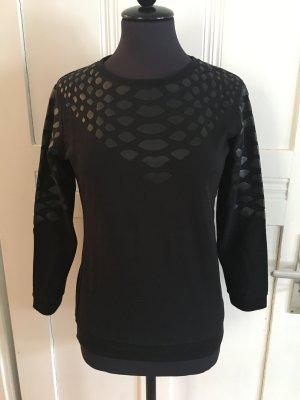 Sweatshirt mit Lederschlangenmuster