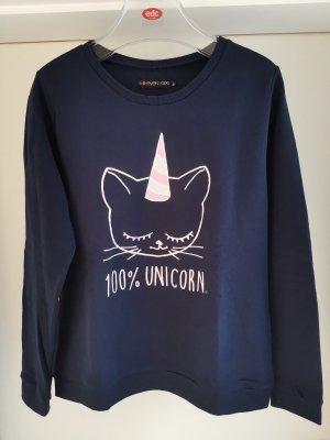 Sweatshirt mit Motiv Katze Einhorn Gr. M von Even&Odd