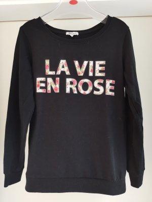 Sweatshirt mit Rosen und Slogan Gr M von Ann Christin