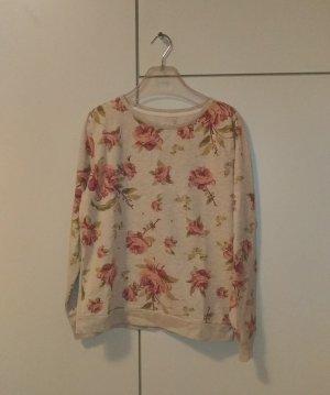 Sweatshirt mit Rosendruck