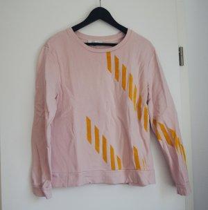 Sweatshirt mit Samtstreifen