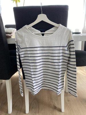 Promod Sweatshirt blanc-bleu