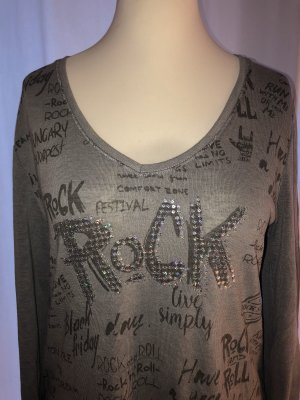 Lang shirt zilver-grijs