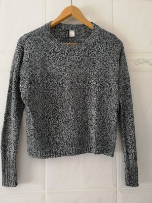 Sweatshirt mit Strickmuster