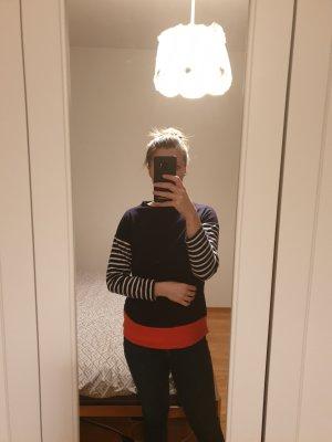 Sweatshirt rouge-bleu