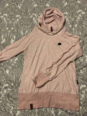 Naketano Sweatshirt met capuchon lichtroze-wit