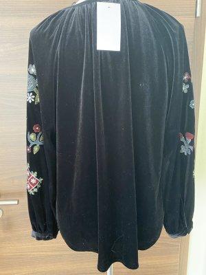 Sweatshirt Nicki Samt Stickerei Zara S