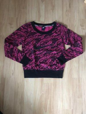 Nike Sweatshirt noir-rose