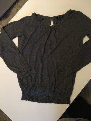 Sweatshirt/ Pullover grau mit Gummibündchen