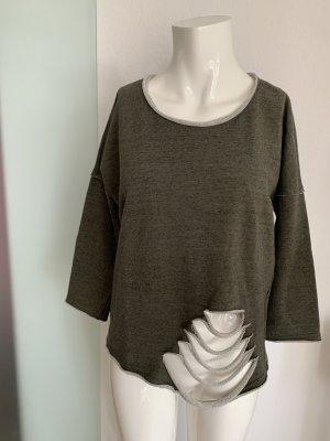 Only Kimono Sweater green grey