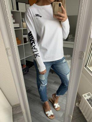 Sweatshirt Pullover Pulli Nike Air Weiß schwarz / 36 38 Basic