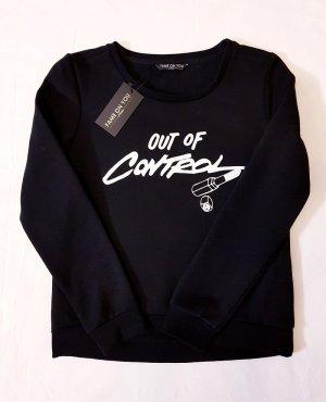 Sweatshirt Pullover schwarz Gr. S M Fame On You neu