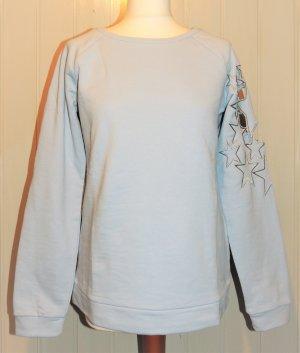 Sweatshirt RICK CARDONA in Blau Silber mit Sternen GR. 36 NEU