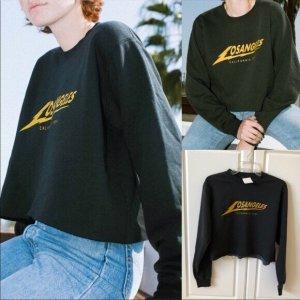 Sweatshirt schwarz Brandy Melville Los Angeles