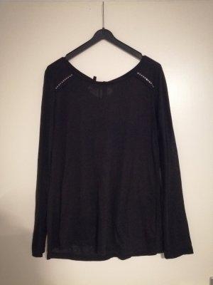 Sweatshirt schwarz mit Nieten