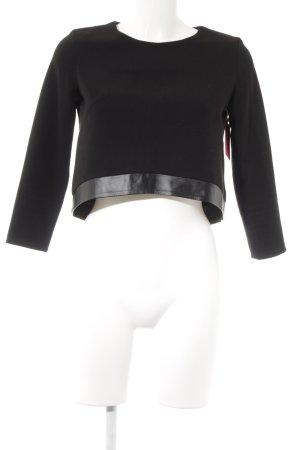 Sweatshirt schwarz schlichter Stil