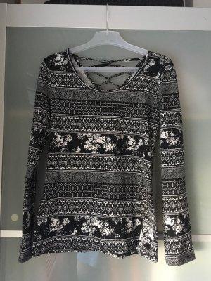 Sweatshirt schwarz-weiß