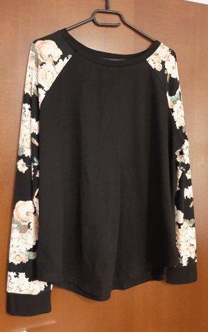 Sweatshirt Shirt Top Dünner Pulli Pullover Blumen Blümchen floral geblümt