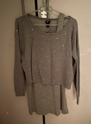 H&M Twin Set tipo suéter light grey-silver-colored