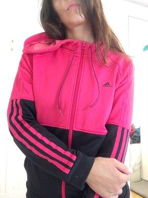 Adidas Sweat à capuche rose-noir