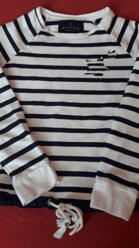 Christian Berg Sweat Shirt natural white-dark blue