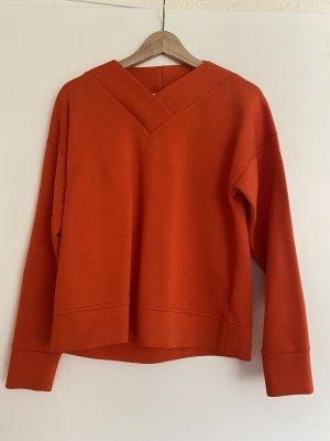 COS Sweat Shirt neon orange cotton