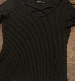 Camiseta Básico negro Poliéster