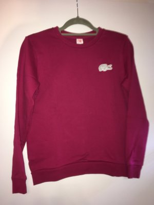 Lacoste Pull long rouge mûre