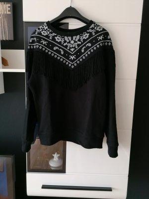 Mango Sweatshirt blanc-noir