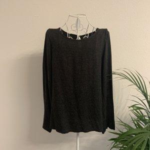 Opus Oversized Shirt dark grey-anthracite