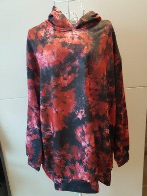 SHE & IN Koszulka typu batik czarny-czerwony