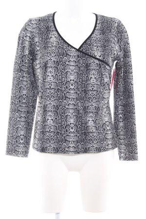 Sweatshirt weiß-schwarz Animalmuster Casual-Look