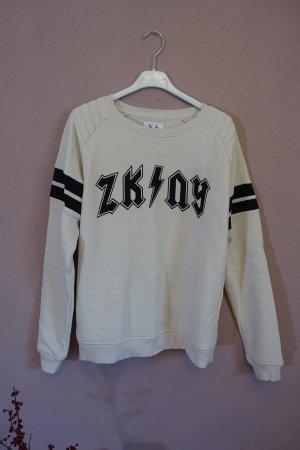 Sweatshirt, ZKNY, Zoe Karssen, Shirt, Pulli, Sweater, Pullover, schwarz, blassrosa