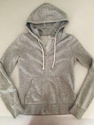 H&M Giacca fitness grigio chiaro-bianco