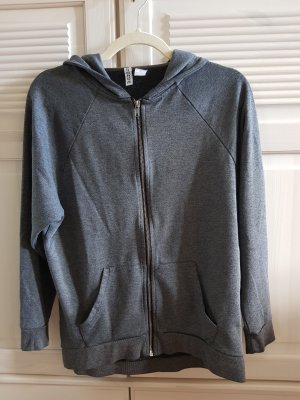 H&M Divided Sweat Jacket silver-colored-dark grey polyester