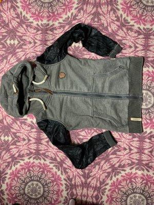 Naketano Chaqueta estilo camisa negro-gris verdoso