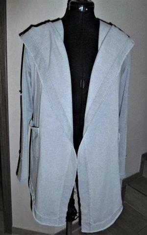 Giacca-camicia grigio chiaro-argento