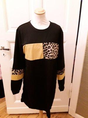 Sweat Dress black-yellow