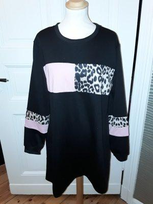 Sweat Dress black-pink