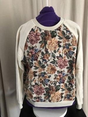 Sweatshirtpullover mit Blumenmuster, Zara, Größe M
