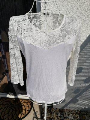 Sweatshirts mit Spitze weiß Gr 38