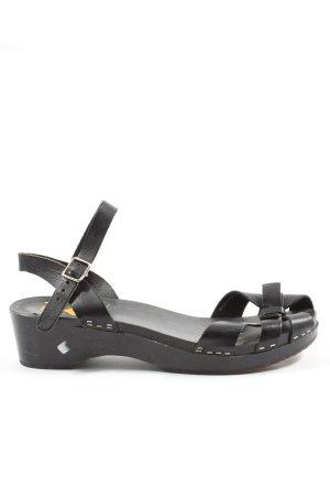 Swedish hasbeens Sandalo comodo nero stile casual