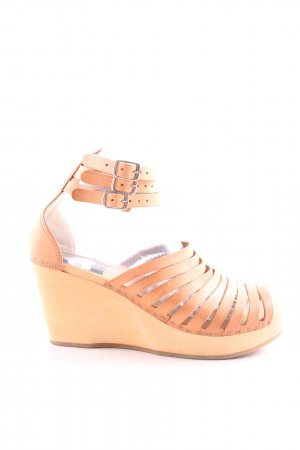 Swedish hasbeens Wedges Sandaletten nude Casual-Look
