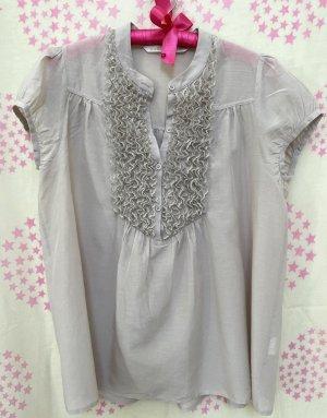 Custommade Short Sleeved Blouse dusky pink cotton