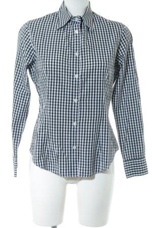 Sweet Deal Langarmhemd schwarz-weiß Karomuster Business-Look