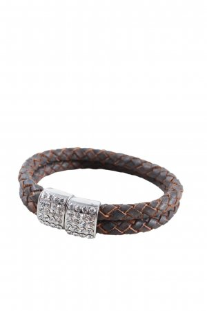 Sweet Deluxe Bangle brown-silver-colored casual look