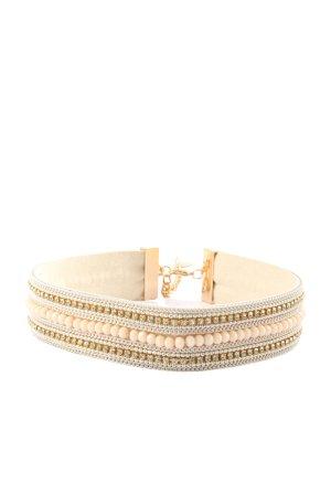 Sweet Deluxe Collar estilo collier color oro-crema look casual