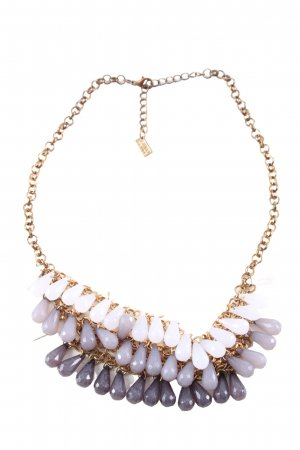 Sweet Deluxe Statement Necklace light grey-gold-colored casual look