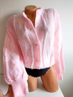 Sweet like Candy True Vintage Strickjacke rosa mit tollem Strickmuster Gr. L/XL 80er 90er