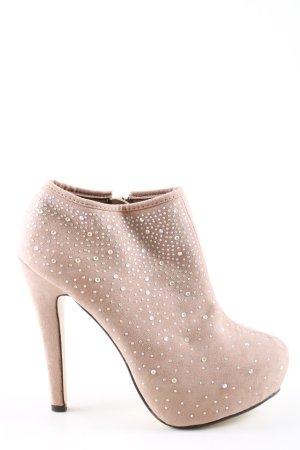 Sweet Shoes Reißverschluss-Stiefeletten nude Elegant